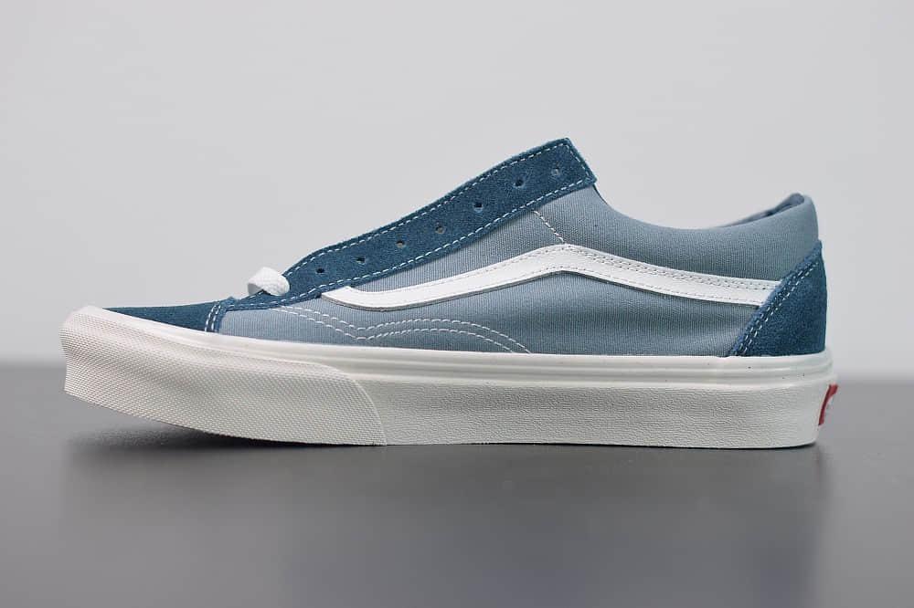 万斯Vans Style 36 权志龙牛仔蓝小头低帮硫化帆布鞋纯原版本 货号:VN0A4U3BX17