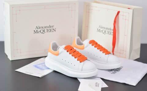 麦昆Alexander McQueen 2020早春款荧光七色系列橘黄小白松糕鞋纯原版本