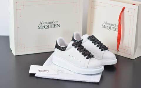 麦昆Alexander McQueen 2020早春款荧光七色系列黑钻尾小白松糕鞋纯原版本
