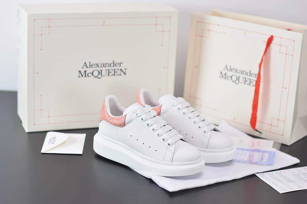 麦昆Alexander McQueen 2020早春款荧光七色系列白粉尾小白松糕鞋纯原版本