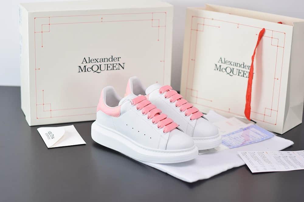 麦昆Alexander McQueen 2020早春款荧光七色系列粉白小白松糕鞋纯原版本