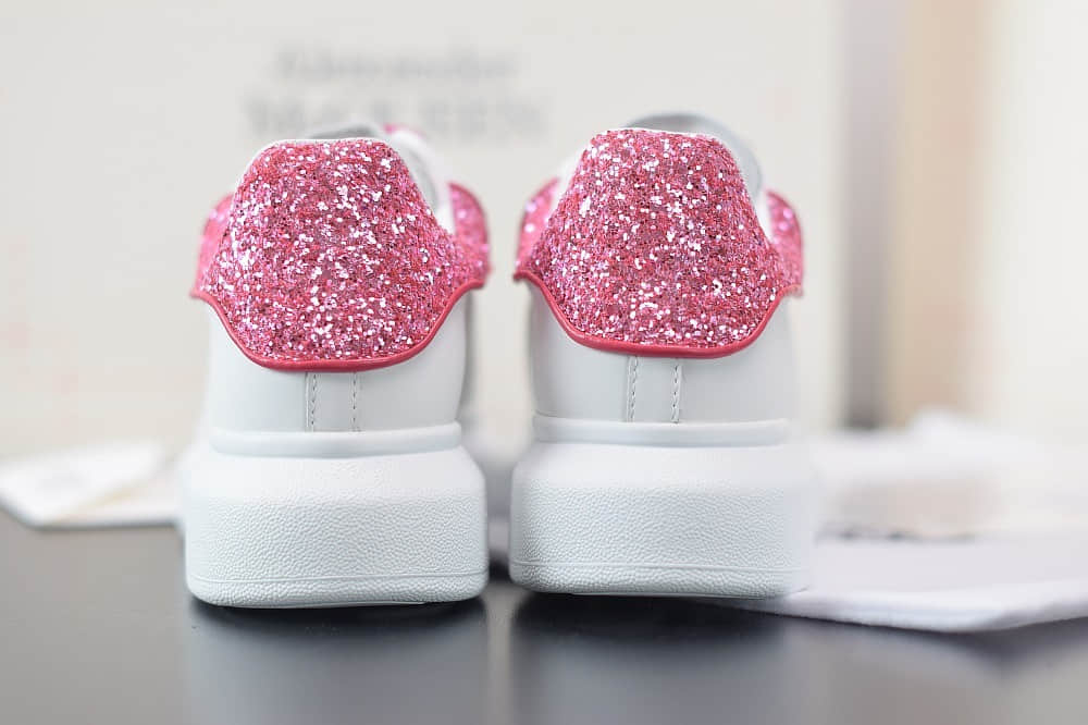 麦昆Alexander McQueen 2020早春款荧光七色系列紫钻尾小白松糕鞋纯原版本
