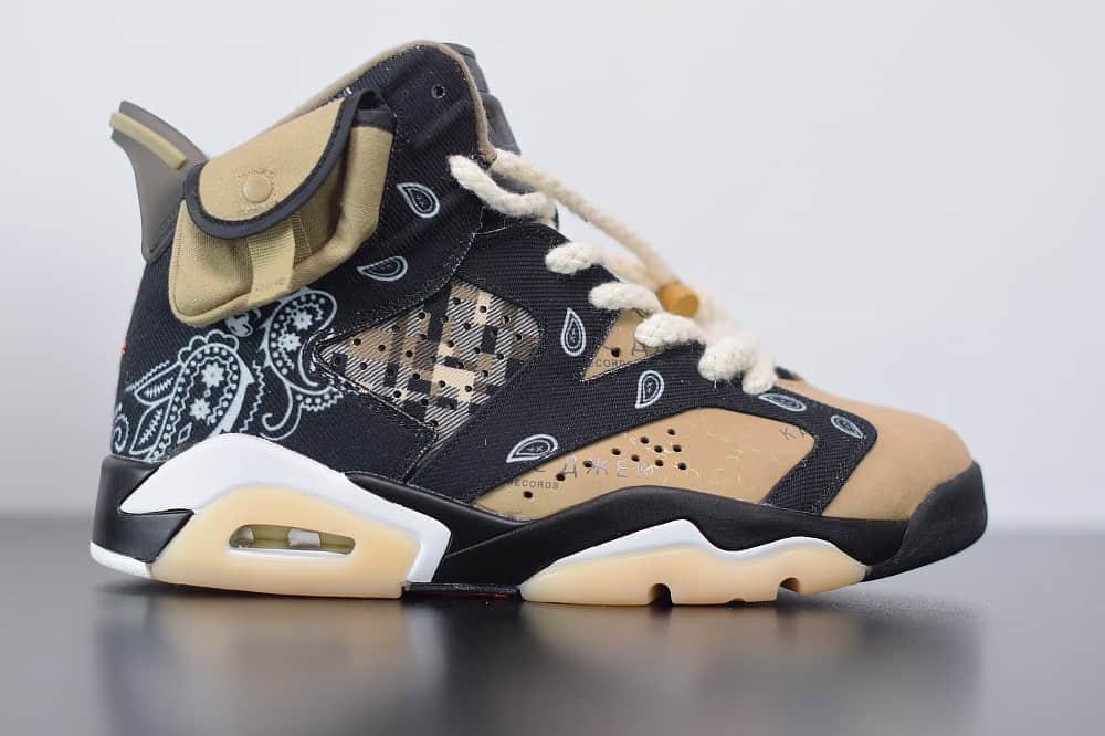 乔丹Air Jordanaj6 TS联名腰果花黑白文化篮球鞋纯原版本 货号:CT5058-001