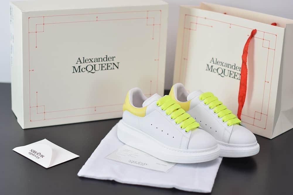麦昆Alexander McQueen 2020早春款荧光七色系列黄白小白松糕鞋纯原版本