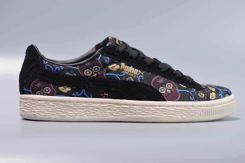 彪马PUMA Platform Dotd Wn's FM 刺绣涂鸦黑低帮休闲板鞋纯原版本 货号:364783-01