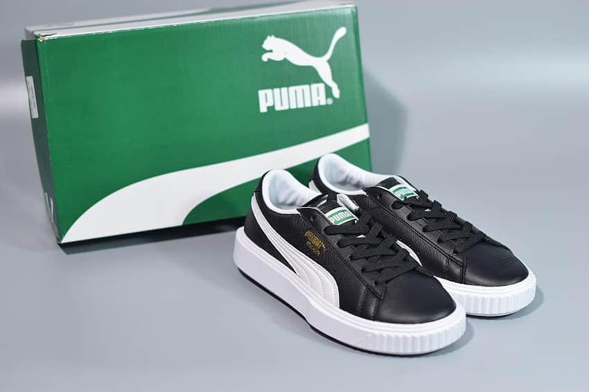 彪马PumaBreaker Lthr 黑白皮质经典休闲运动板鞋纯原版本 货号:366078-01