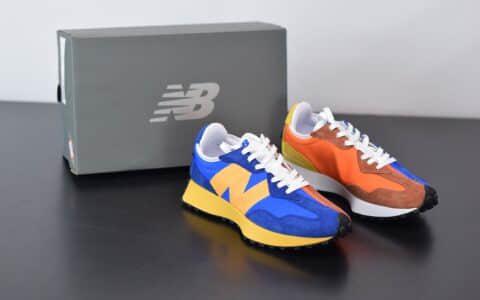 新百伦New Balance MS327复古先锋系列蓝橙鸳鸯休闲运动慢跑鞋纯原版本 货号:MS327LAA