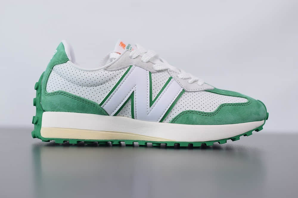 新百伦New Balance MS327复古先锋系列白绿休闲运动慢跑鞋纯原版本 货号:MS327CBD