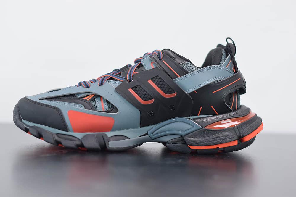 巴黎世家Balenciaga Sneaker Tess s.Gomma MAILLE WHITEORANGE蓝橙色三代户外概念鞋纯原版本