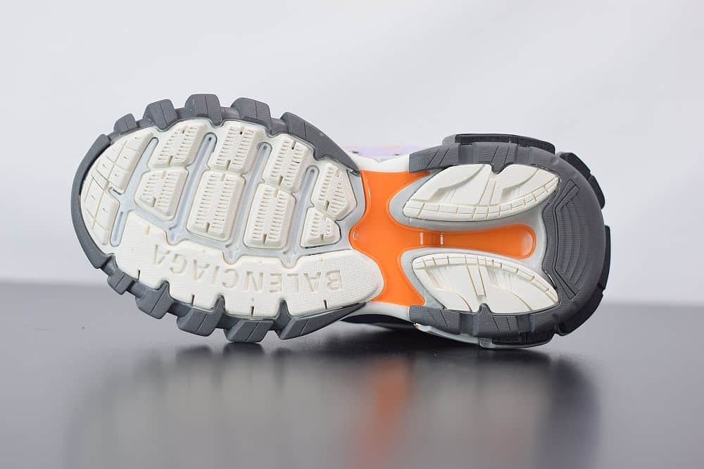 巴黎世家Balenciaga Sneaker Tess s.Gomma MAILLE WHITEORANGE白紫色三代户外概念鞋纯原版本