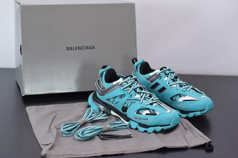 巴黎世家Balenciaga Sneaker Tess s.Gomma MAILLE WHITEORANGE青蓝色三代户外概念鞋纯原版本
