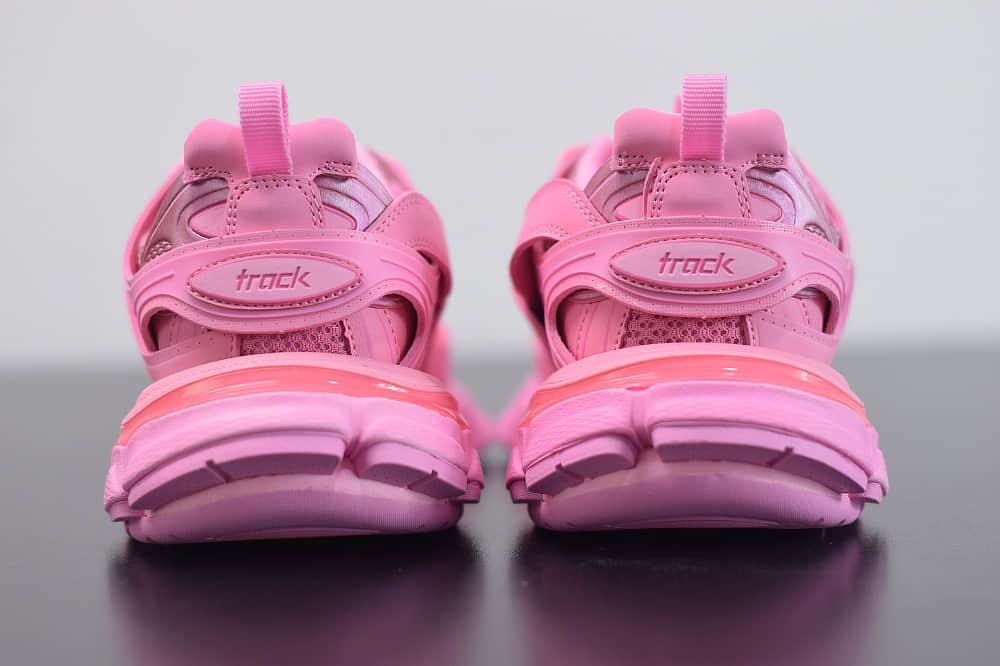 巴黎世家Balenciaga Sneaker Tess s.Gomma MAILLE WHITEORANGE粉色三代户外概念鞋纯原版本货号:542436W2LA15842