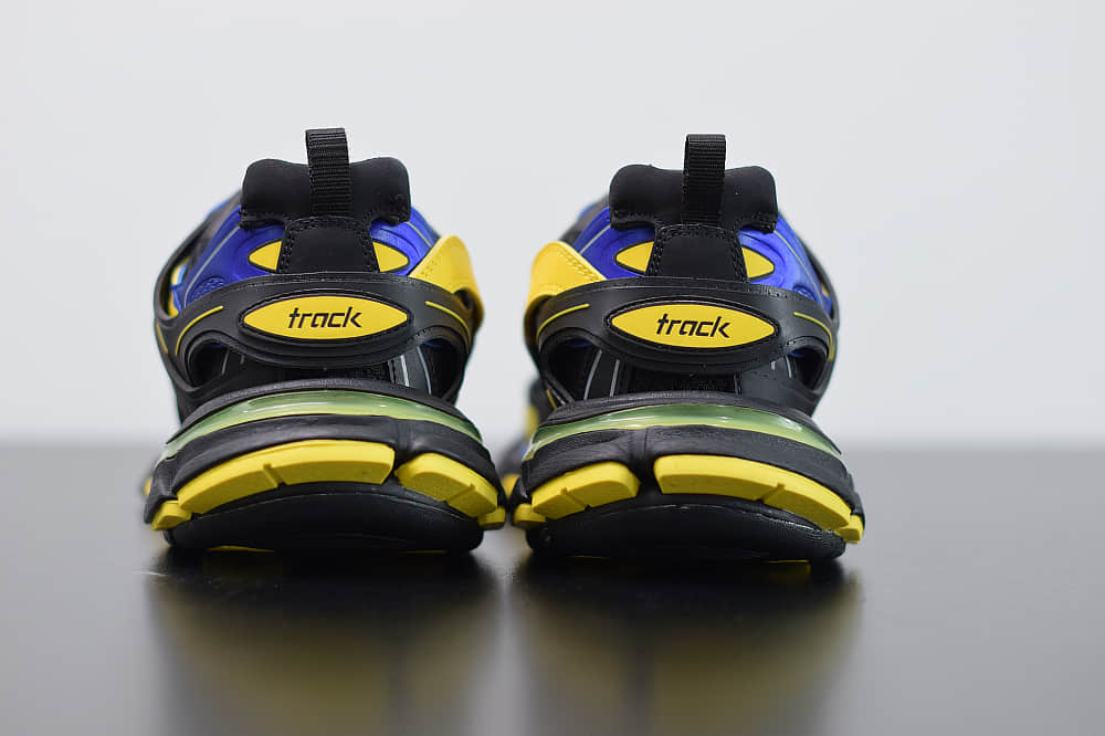 巴黎世家Balenciaga Sneaker Tess s.Gomma MAILLE WHITEORANGE黑黄蓝色三代户外概念鞋纯原版本