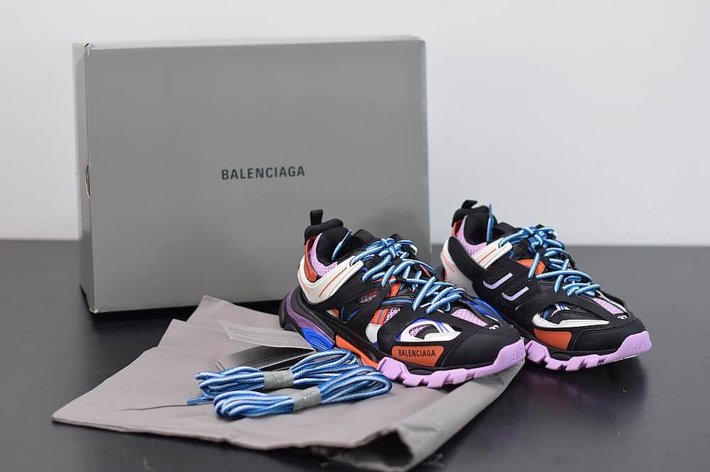 巴黎世家Balenciaga Sneaker Tess s.Gomma MAILLE WHITEORANGE黑紫色三代户外概念鞋纯原版本