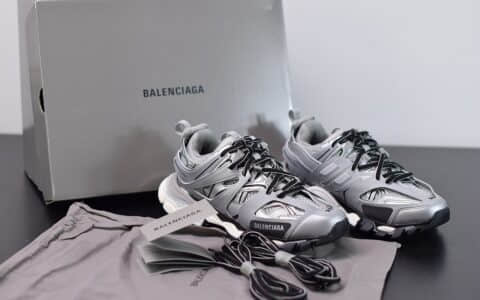 巴黎世家Balenciaga Sneaker Tess s.Gomma MAILLE WHITEORANGE灰色三代户外概念鞋纯原版本
