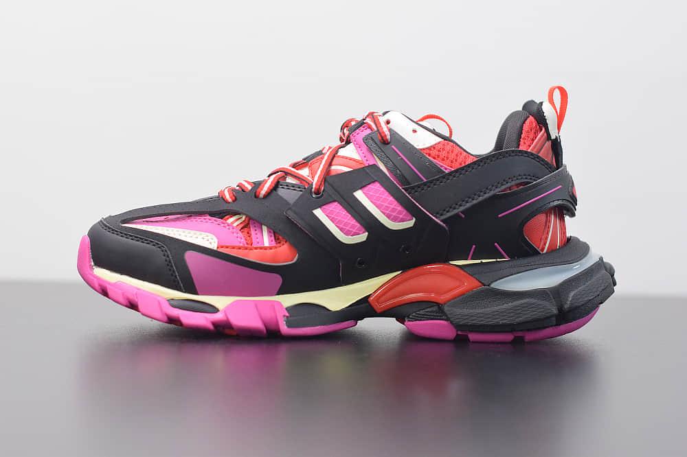巴黎世家Balenciaga Sneaker Tess s.Gomma MAILLE WHITEORANGE黑粉色三代户外概念鞋纯原版本
