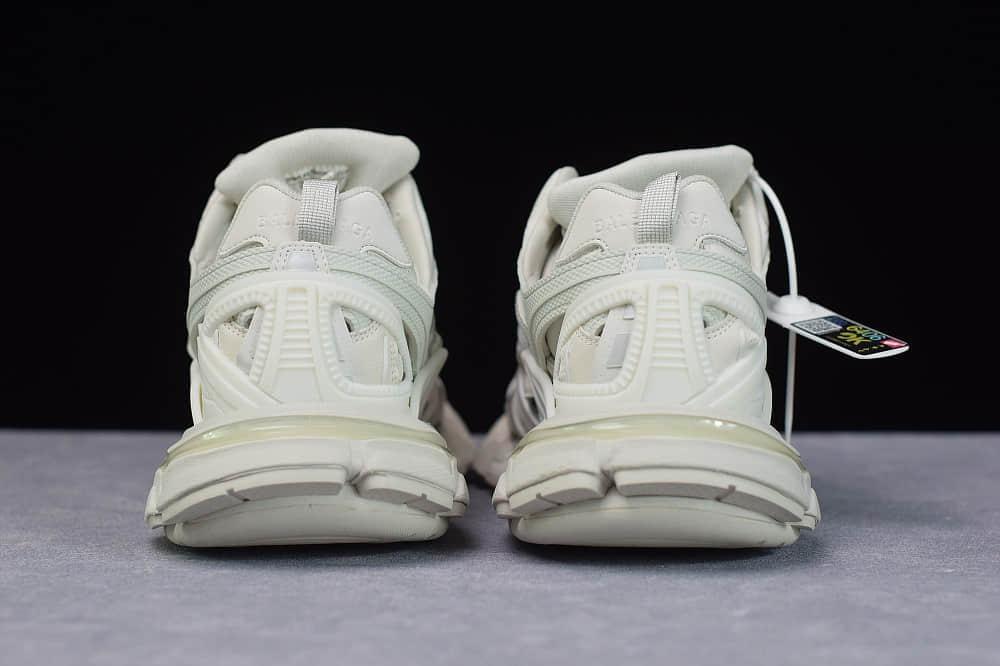 巴黎世家Balenciaga Sneaker Tess s.Gomma MAILLE WHITEORANGE白色三代户外概念鞋纯原版本