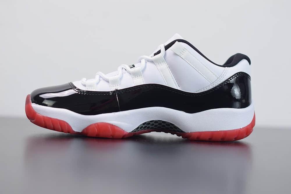"""乔丹 Air Jordan 11 Retro Low""""黑红外线康扣""""乔11低帮时尚休闲篮球鞋纯原版本 货号:AV2187-160"""