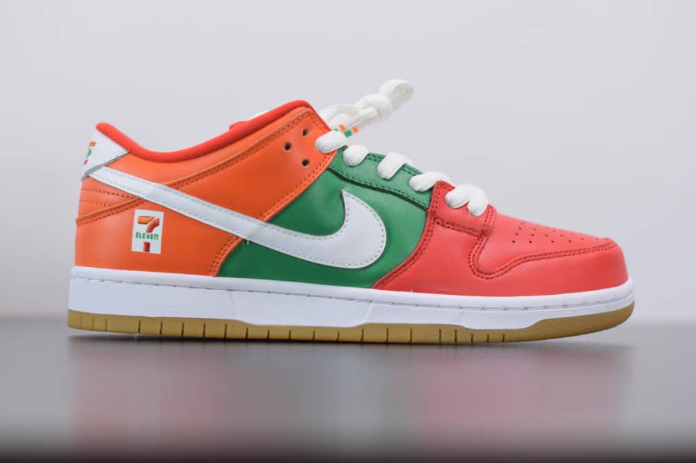 耐克7-Eleven x Nike SB Dunk Low便利店联名七彩低帮板鞋纯原版本 货号:CZ5130-600