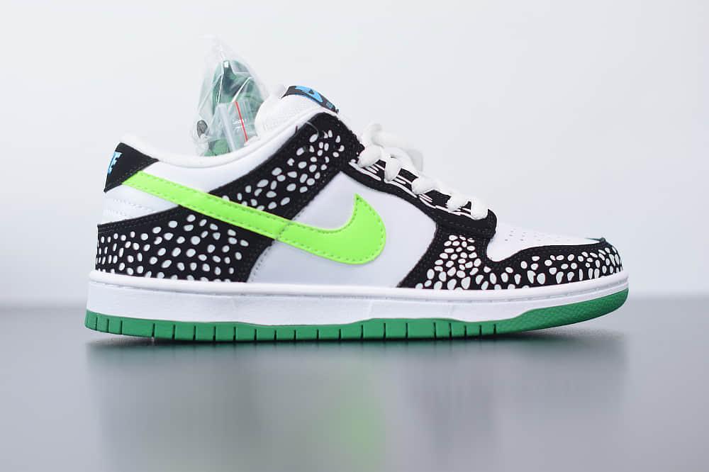 耐克Nike SB Dunk Low Loon斑点黑绿休闲运动板鞋纯原版本 货号:313170-011