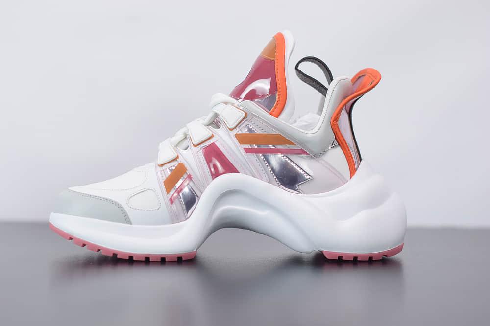 路易威登Louis Vuitton Archlight Sneakers LV白橙色复古运动鞋纯原版本 货号:1A65RA