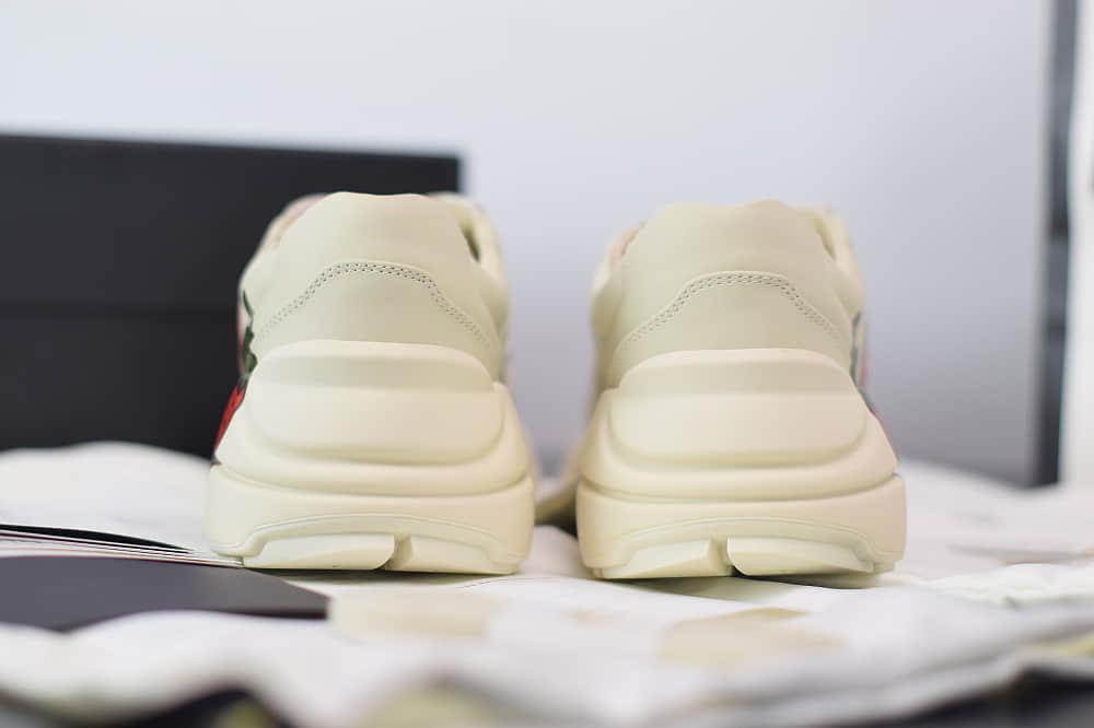 古驰Gucci Rhyton印花草莓红做旧经典复古老爹鞋纯原版本 货号:576963DRW009522