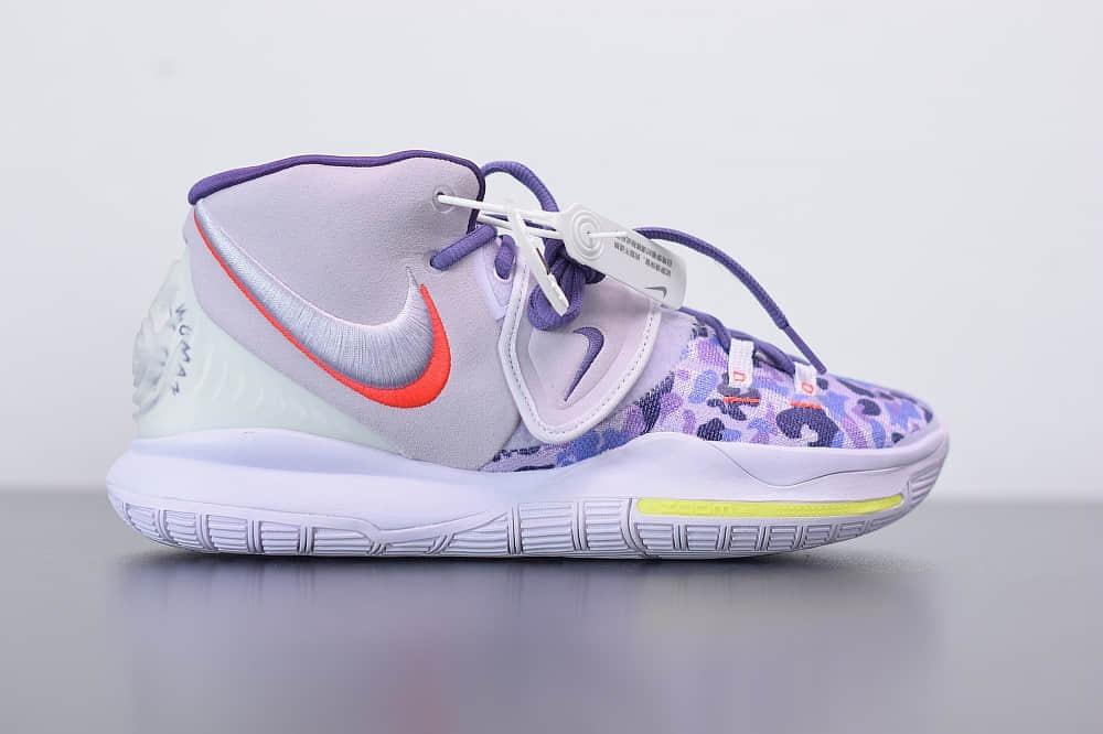 耐克Nike Kyrie6Asia欧文6代亚洲限定迷彩紫中帮篮球鞋纯原版本 货号:CD5031-500