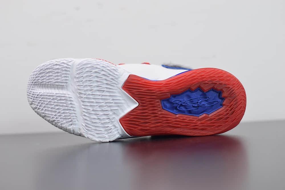 耐克Nike Lebron 17 LOW詹姆斯17代蓝红鸳鸯低帮篮球鞋纯原版本 货号:CD5007-100