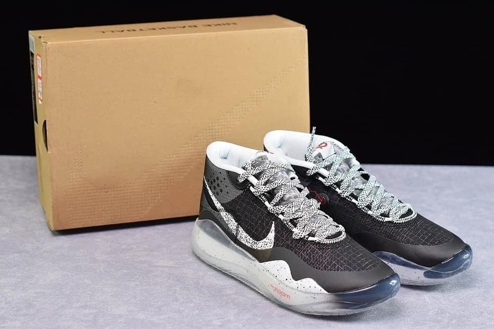 耐克NIKE ZOOM KD12 EP杜兰特12代黑灰休闲运动篮球鞋纯原版本 货号:AR4230-002