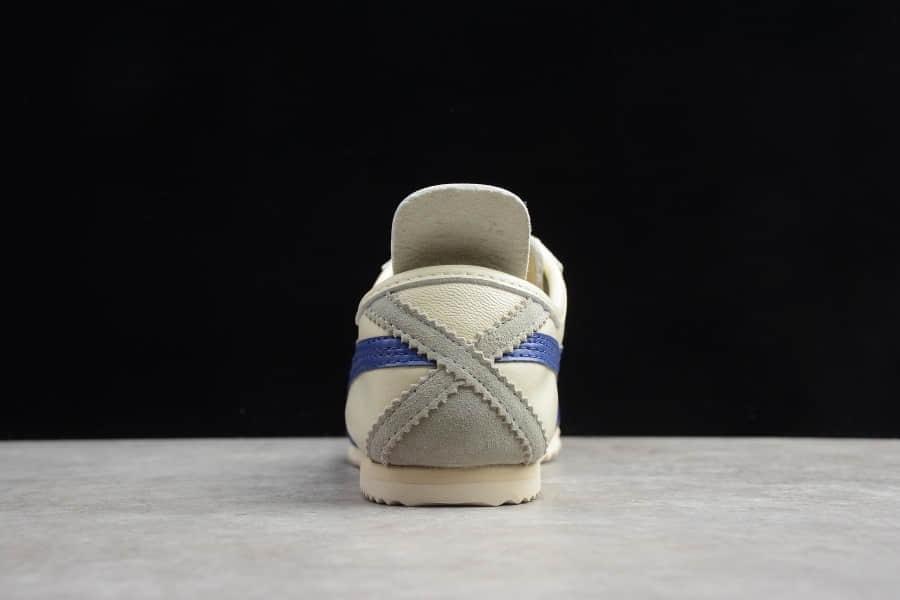 亚瑟士Asics Onitsuka Tiger MEXICO 66鬼冢虎蓝白休闲鞋纯原版本 货号:TH2J4L-0142