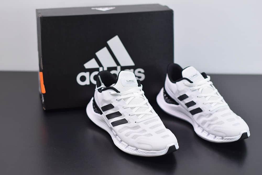 阿迪达斯Adidas Climacool清风系列黑白休闲慢跑鞋纯原版本 货号:FW1221