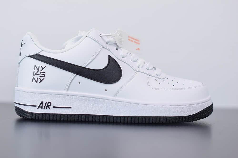 """耐克Nike Air Force 1 Low """"Ny vs Ny"""" 魔术贴空军一号低帮百搭休闲运动板鞋纯原版本 货号:CW7297-100"""