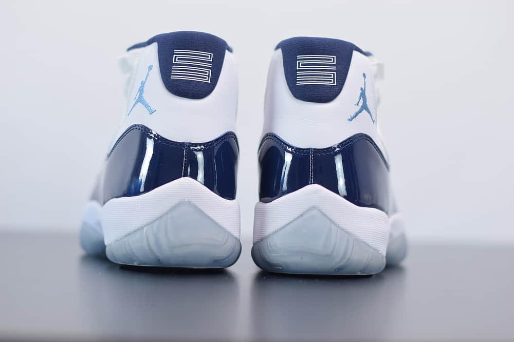 """乔丹Air Jordan 11""""Win Like '82 AJ11北卡白蓝高帮篮球鞋纯原版本 货号:378037-123"""