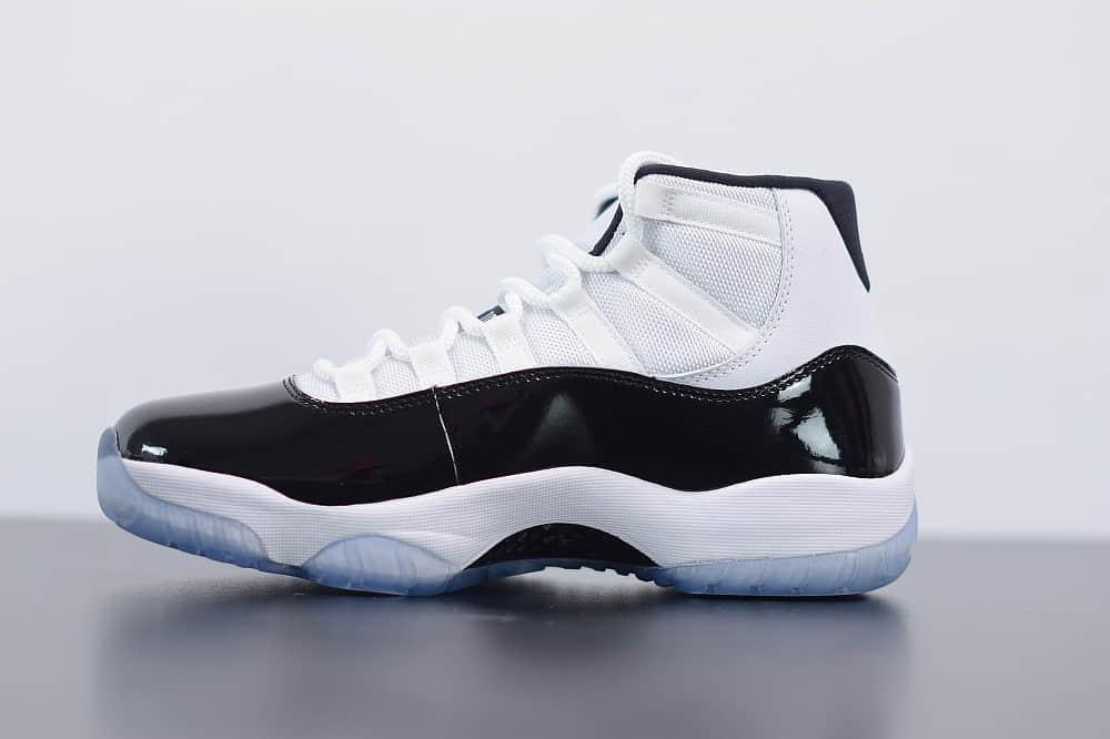 乔丹Air Jordan 11 Concord AJ11康扣黑白高帮篮球鞋纯原版本 货号:378037-100