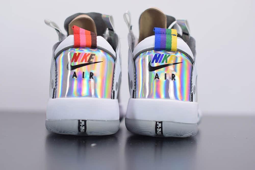 乔丹Air Jordan 34 White lridescentPF白镭射高帮轻量化篮球鞋纯原版本 货号:BQ3381-101