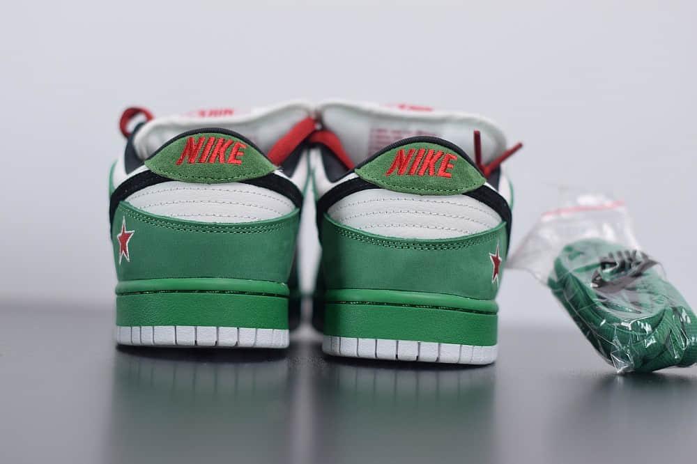 耐克Nike Dunk SB Low Heineken喜力低帮联名限定鞋款纯原版本 货号:304292-302
