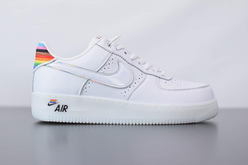 耐克Air Force 1 Betrue彩虹空军一号低帮百搭休闲运动板鞋纯原版本 货号:CV0258-100