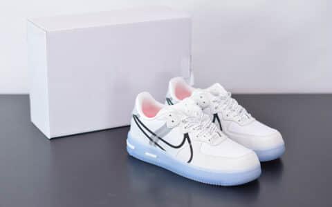 耐克Nike Air Force 1 React QS Light Bone冰块空军一号板鞋纯原版本 货号:CQ8879-100