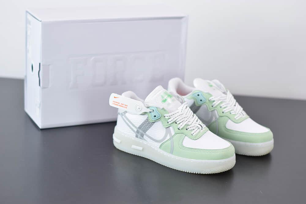 耐克Nike Air Force 1 React QS空军一号薄荷夜绿休闲板鞋纯原版本 货号:CQ8879-111