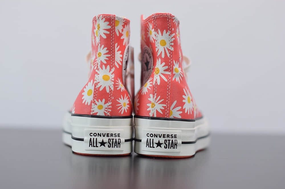 匡威Converse橘色小菊花松糕鞋纯原版本 货号:568930C