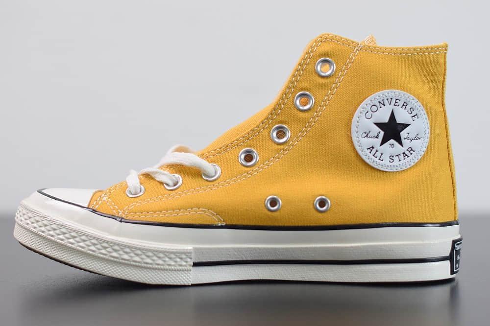 匡威converse all star1970S三星标高帮落叶黄硫化帆布鞋纯原版本 货号:162054C