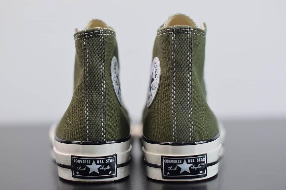匡威converse all star1970S三星标高帮墨绿色硫化帆布鞋纯原版本 货号:162052C
