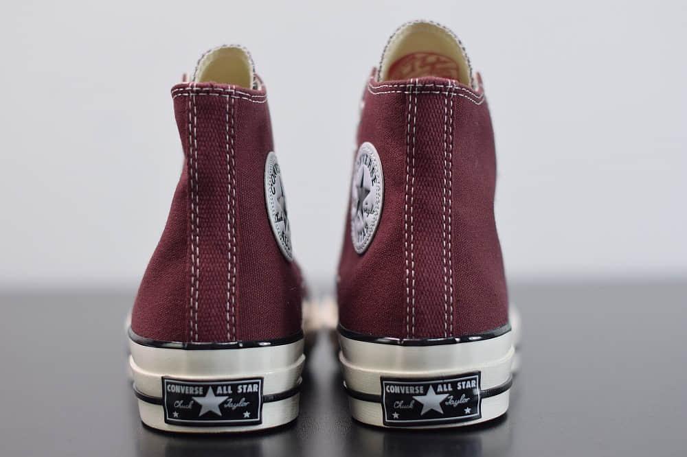 匡威converse all star1970S三星标高帮酒红色硫化帆布鞋纯原版本 货号:162051C
