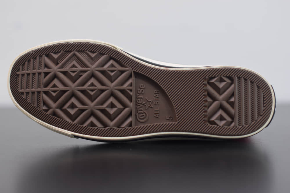 匡威converse all star1970S三星标高帮粉色硫化帆布鞋纯原版本 货号:161417C