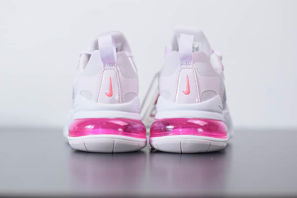 耐克Nike Air Max 270 React瑞亚赛车浅粉气垫运动鞋纯原版本 货号:CZ0374-500