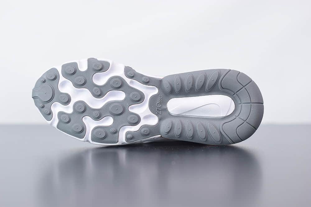 耐克Nike Air Max 270 React炫彩米白气垫运动鞋纯原版本 货号:CD6615-100