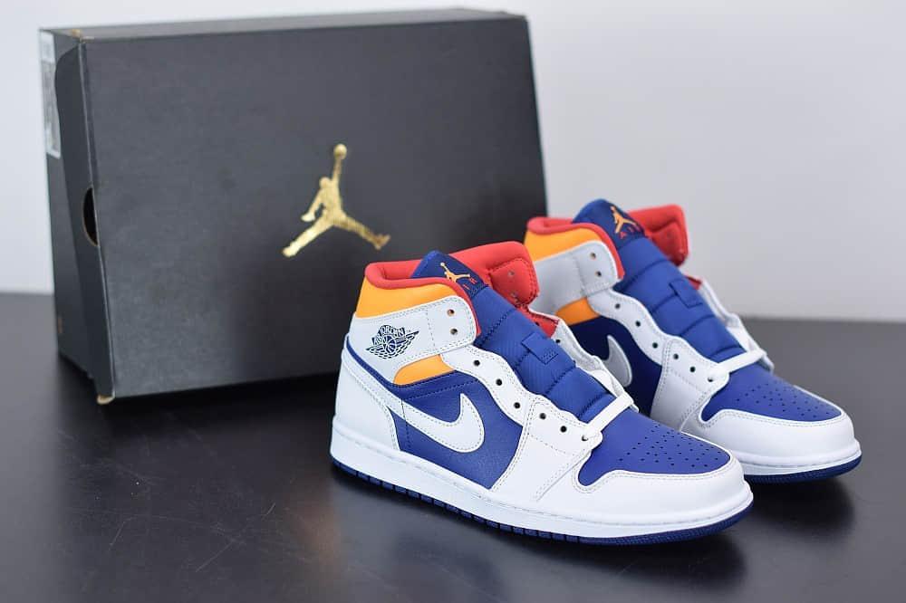 乔丹Air Jordan 1 Mid皇家海军蓝中帮篮球鞋纯原版本 货号:554724-131