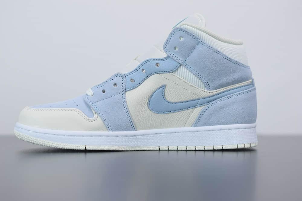 乔丹Air Jordan 1 MID中帮小灰蓝配色篮球鞋纯原版本 货号:DA4666-100