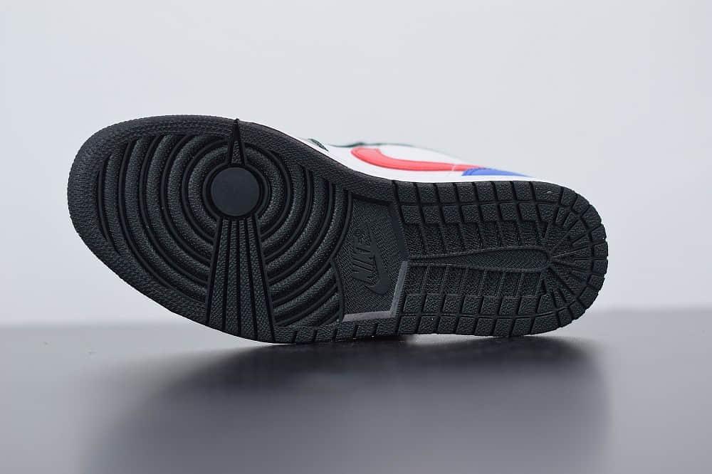 乔丹Air Jordan 1 Low低帮彩钩拼接休闲板鞋纯原版本 货号:CZ4776-101