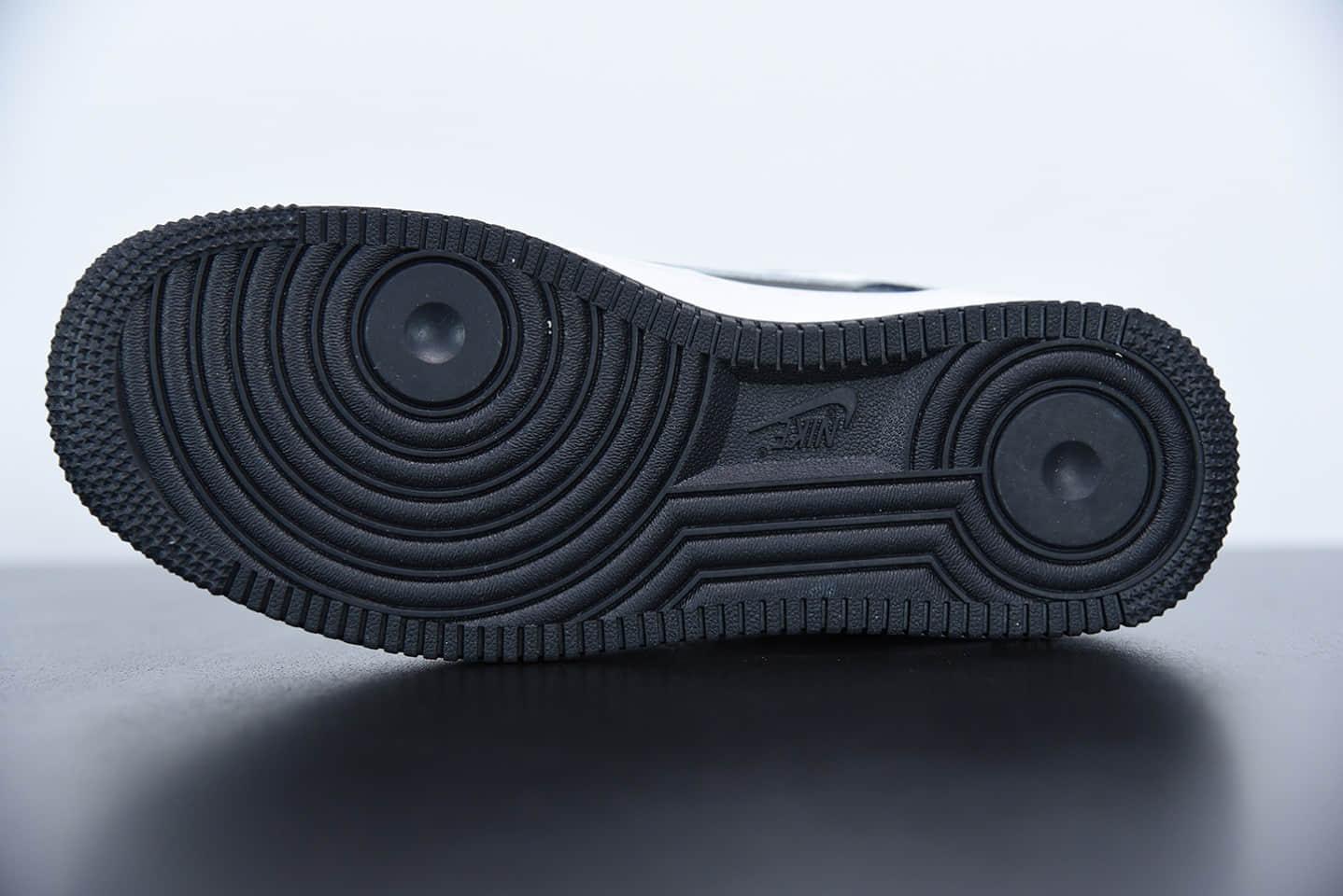 耐克NIKE Air Force 1 Low 空军一号经典款全黑白低帮休闲板鞋纯原版本 货号:DC2300-001